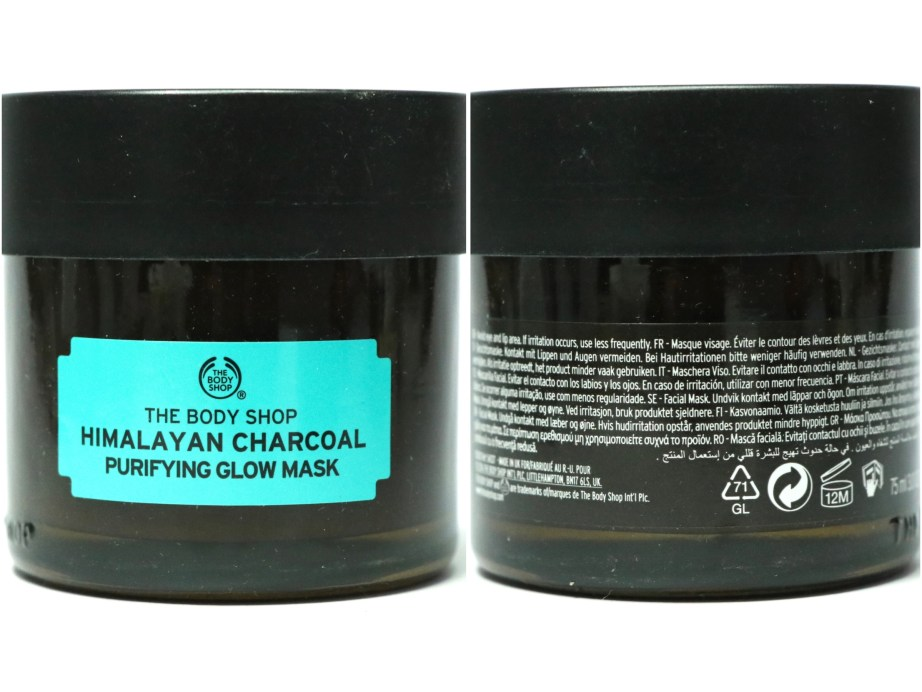 The Body Shop Himalayan Charcoal Purifying Glow Mask Review, Swatches details