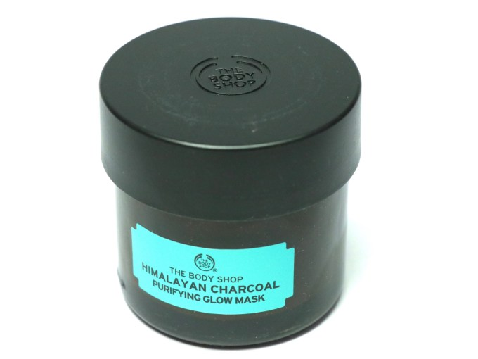 The Body Shop Himalayan Charcoal Purifying Glow Mask Review, Swatches top