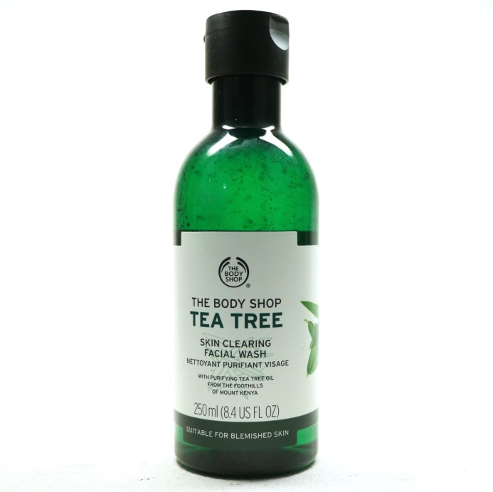 The Body Shop Tea Tree Skin Clearing Facial Wash Review MBF Blog