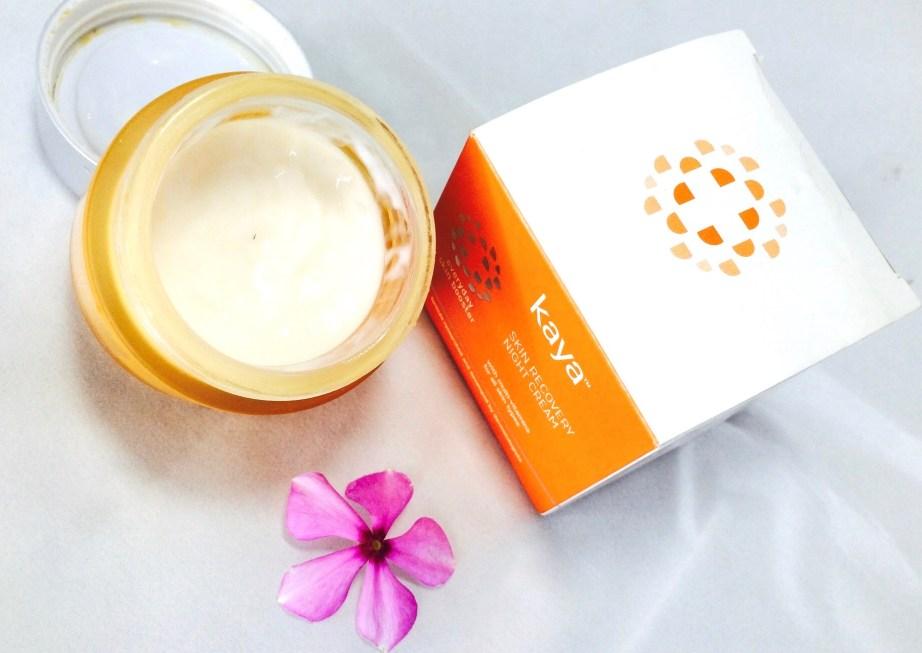 Kaya Skin Recovery Night Cream Review blog MBF