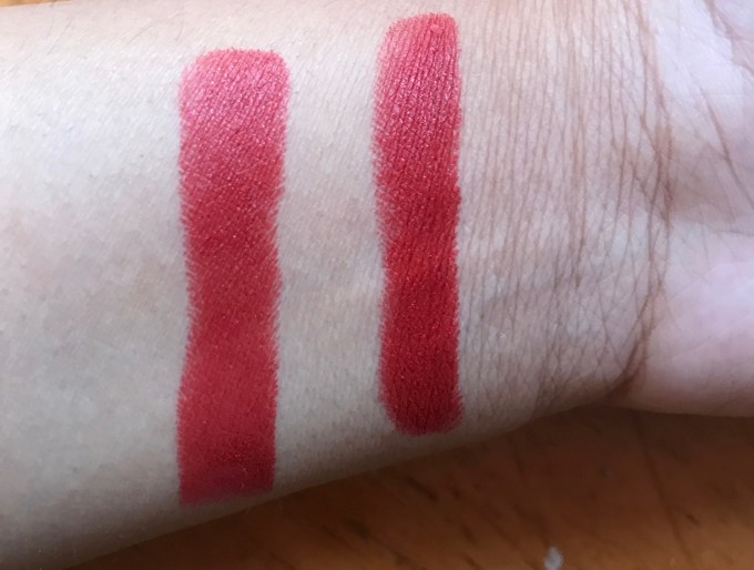 L'Oreal Pure Brick Color Riche Pure Reds Star Collection Lipstick Review, Swatches skin