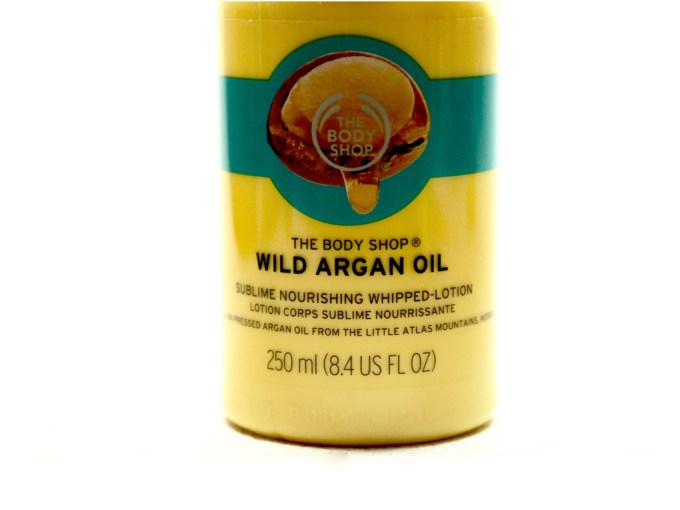 The Body Shop Wild Argan Oil Sublime Nourishing Whipped Body Lotion Review info