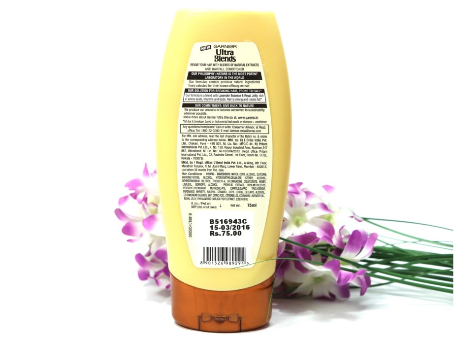Garnier Ultra Blends Royal Jelly & Lavender Conditioner Review info