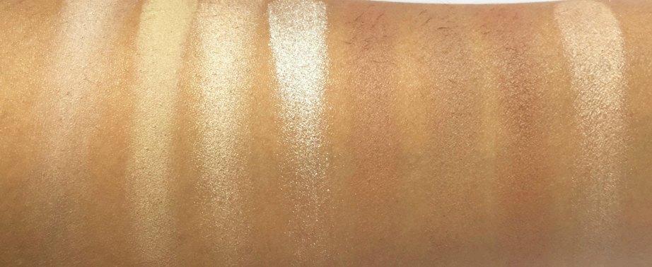 Makeup Revolution Ultra Contour Palette Review, Swatches 1