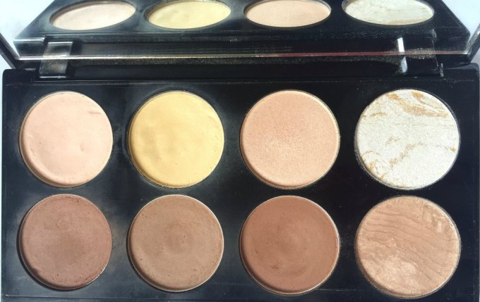 Makeup Revolution Ultra Contour Palette Review, Swatches blog mbf