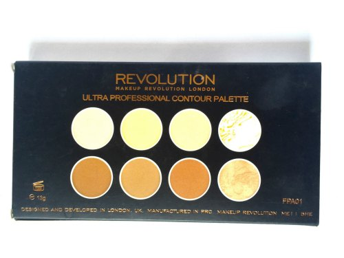 Makeup Revolution Ultra Contour Palette Review, Swatches box back