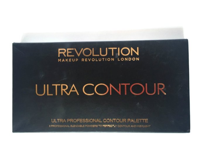 Makeup Revolution Ultra Contour Palette Review, Swatches box front