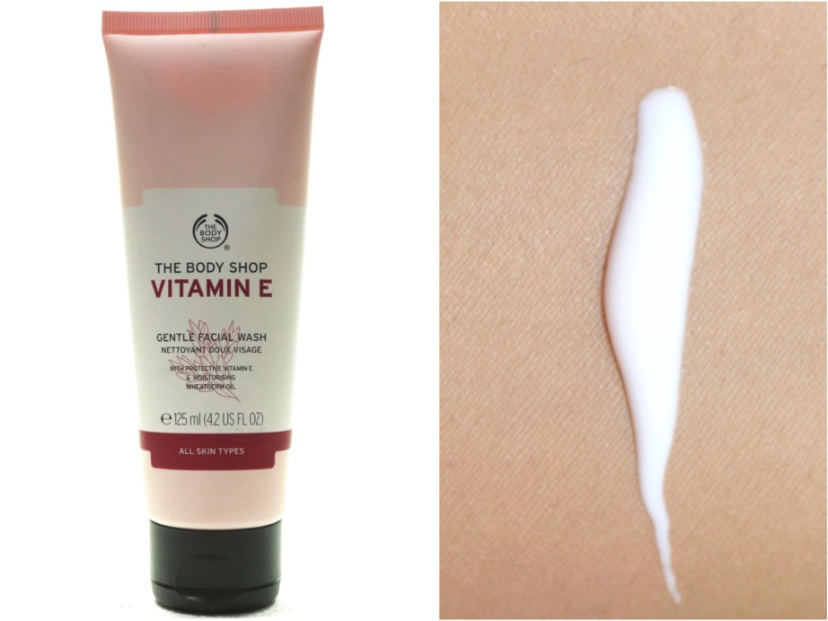 The Body Shop Vitamin E Gentle Facial Wash Review Swatch