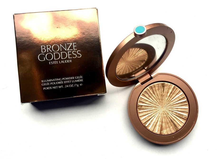 Estée Lauder Bronze Goddess Illuminating Powder Gelée Heat Wave Review, Swatches MBF Blog