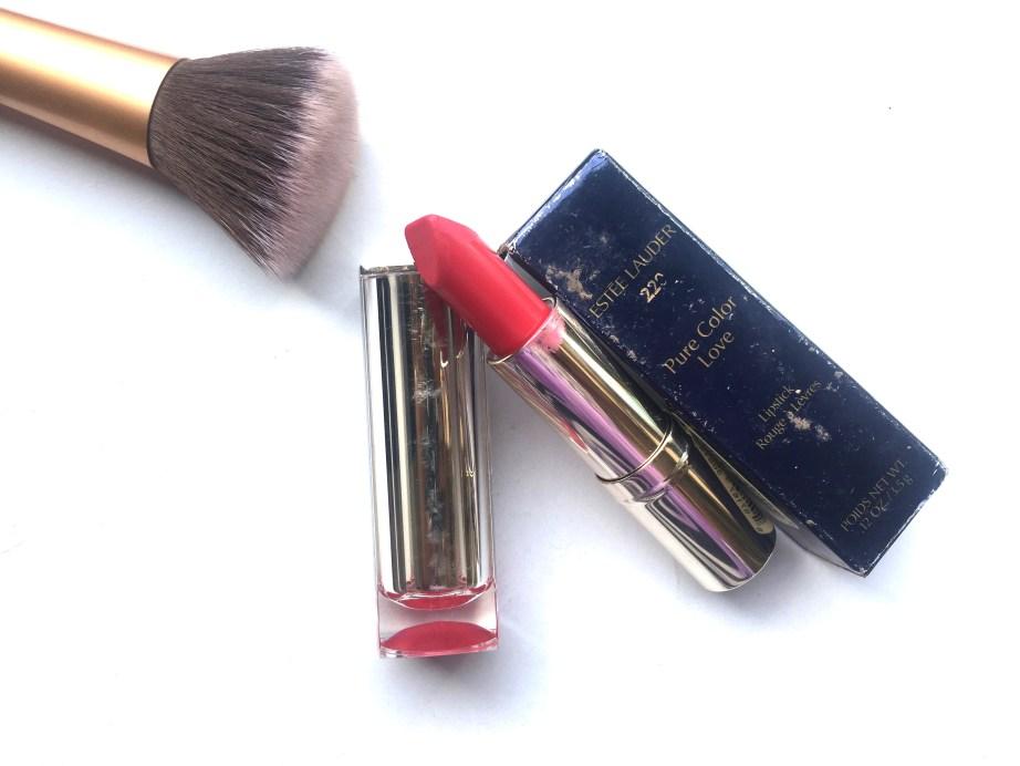 Estée Lauder Pure Color Love Lipstick Shock & Awe 220 Review, Swatches