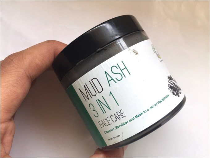 Greenberry Organics Mud Ash 3 In 1 Cleanser, Scrub & Mask Review front