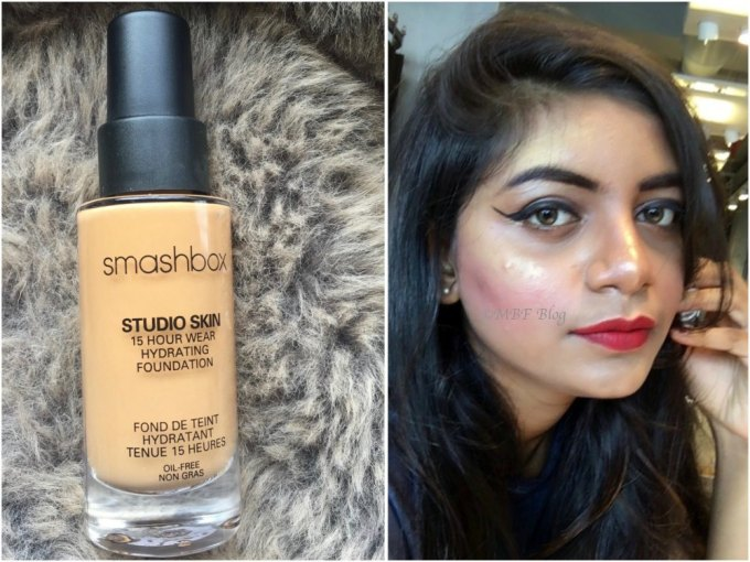 Smashbox Studio Skin 15 Hour Wear Hydrating Foundation Review, Shades, Swatches MBF Makeup Look