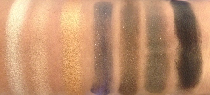 Colorbar Smokey Eyeshadow Palette Review, Swatches skin