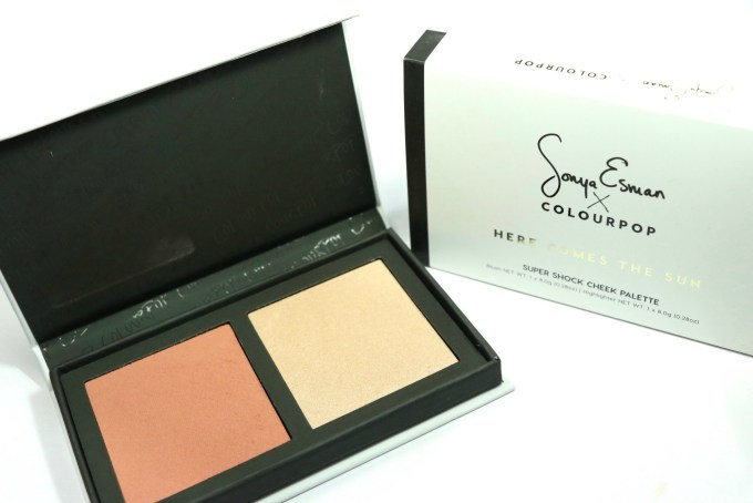 ColourPop Sonya Esman Here Comes the Sun Super Shock Cheek Palette Review, Swatches