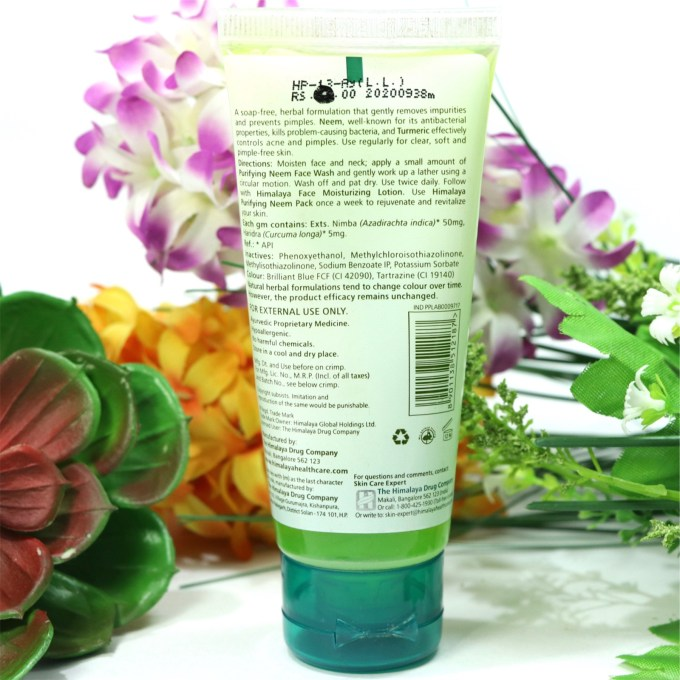 Himalaya Herbals Purifying Neem Face Wash Review, Swatches Info