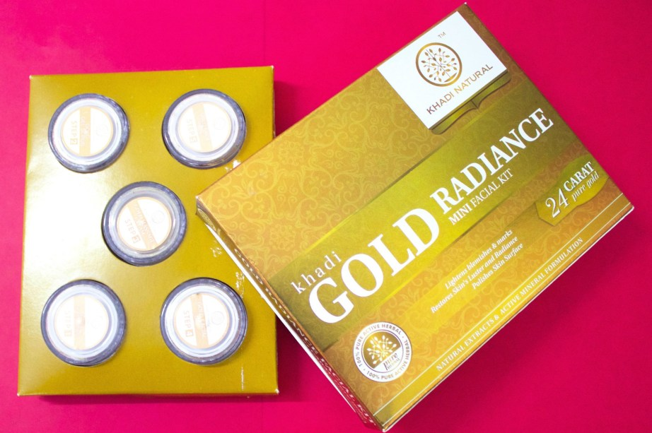 Khadi Gold Radiance Facial Kit Review, Swatches MBF Blog