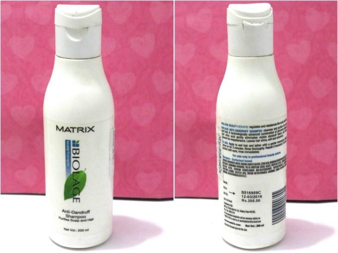 Matrix Biolage Anti Dandruff Shampoo Review MBF Blog