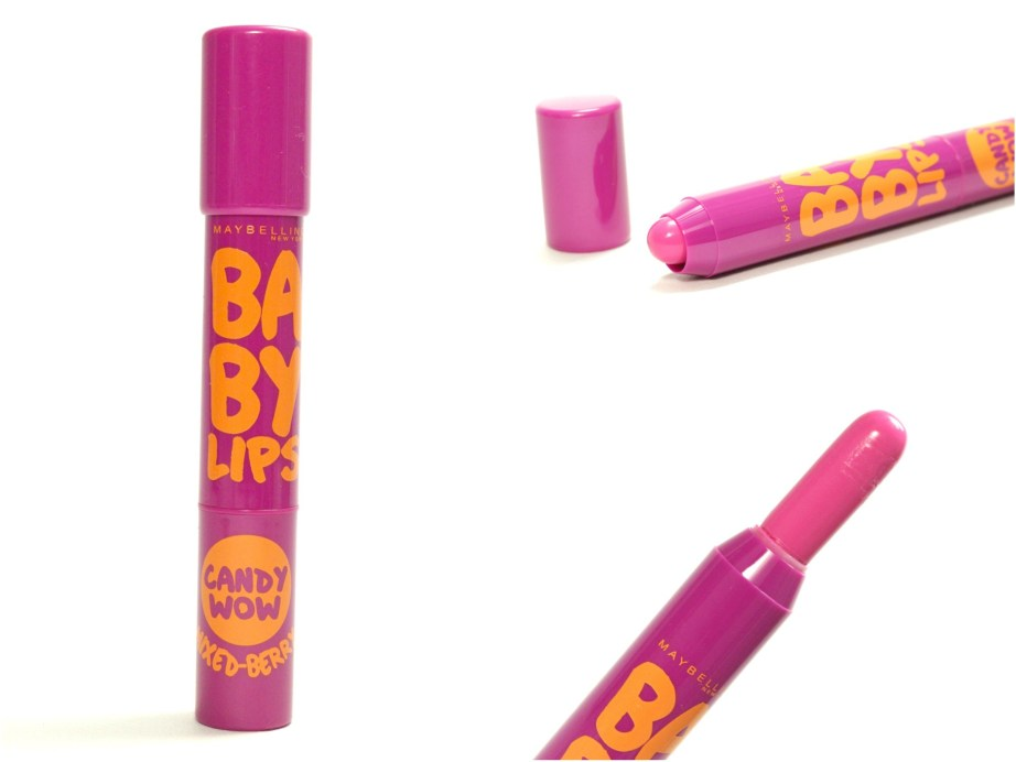 Maybelline Baby Lips Candy Wow Mixed Berry Review, Swatches