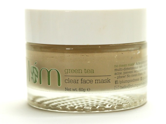 Plum Green Tea Clear Face Mask Review Blog MBF