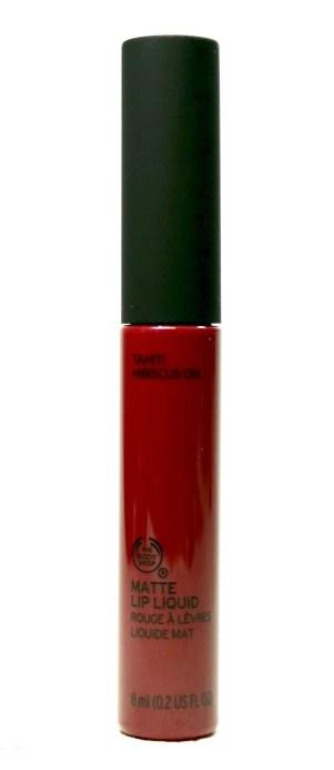 The Body Shop Matte Lip Liquid Lipstick Tahiti Hibiscus Review