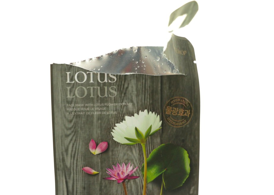 The Face Shop Real Nature Lotus Face Mask Review Open