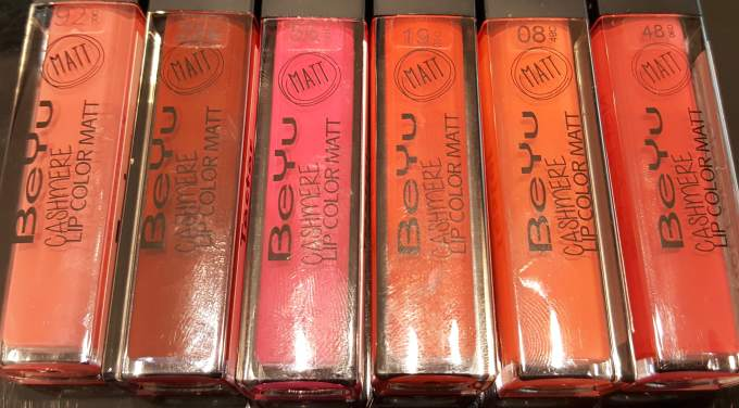 All BeYu Cashmere Lip Color Matte Liquid Lipsticks Shades Review, Swatches 2