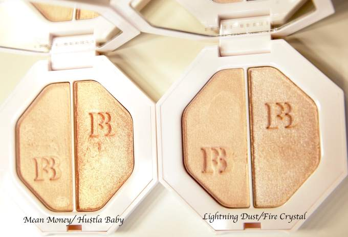 Fenty Beauty Killawatt Freestyle Highlighters Review, Swatches mean money Hustla baby Lightening dust fire cracker
