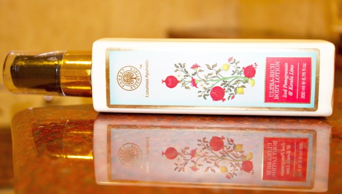 Forest Essentials Ultra Rich Body Lotion Iced Pomegranate & Kerala Lime Review