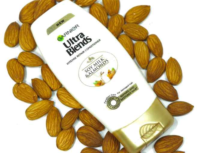 Garnier Ultra Blends Soy Milk Almonds Conditioner Review MBF Blog