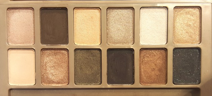 Maybelline 24K Nudes Eyeshadow Palette Review, Swatches closeup