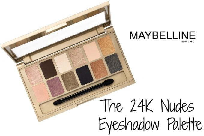 Maybelline 24K Nudes Eyeshadow Palette Review, Swatches