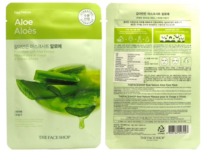 The Face Shop Real Nature Aloe Face Mask Review MBF Blog