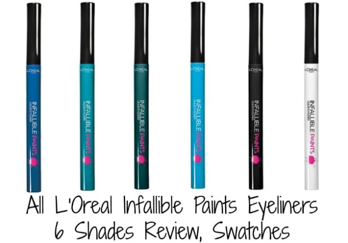 All L'Oreal Infallible Paints Eyeliner Shades Review, Swatches MBF Blog