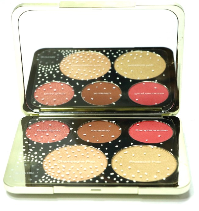 Becca Jaclyn Hill Champagne Collection Face Palette Review, Swatches closeup