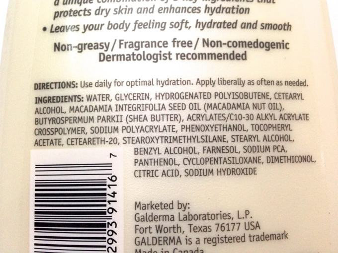 Cetaphil DailyAdvance Ultra Hydrating Lotion Review Ingredients