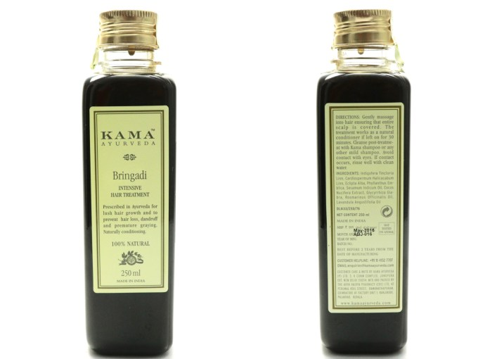 Kama Ayurveda Bringadi Intensive Hair Treatment Oil Review MBF