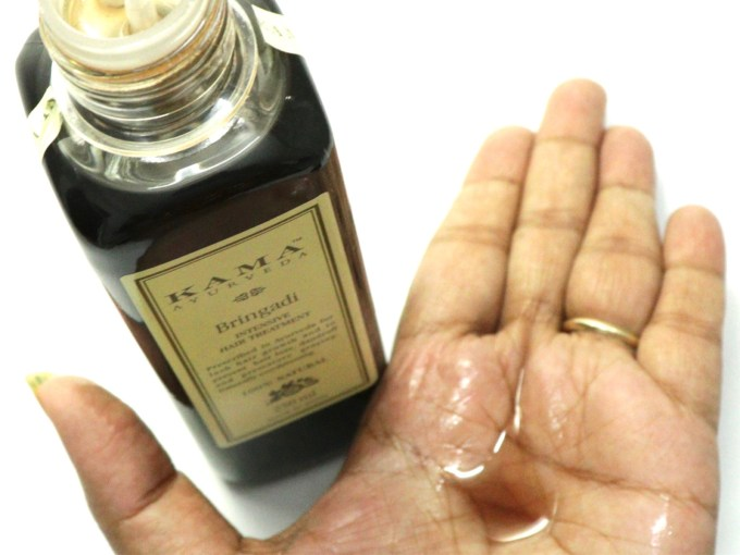 Kama Ayurveda Bringadi Intensive Hair Treatment Oil Review Swatches