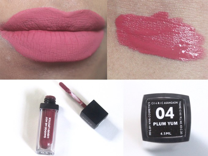 Sugar Smudge Me Not Liquid Lipstick Plum Yum 04 Review, Swatches MBF Blog