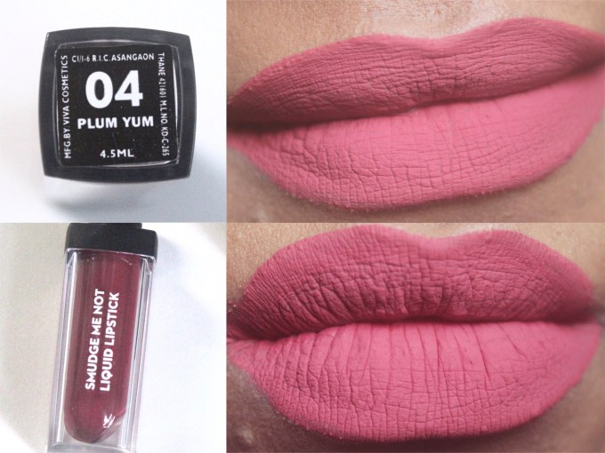 Sugar Smudge Me Not Liquid Lipstick Plum Yum 04 Review, Swatches on Lips MBF Blog