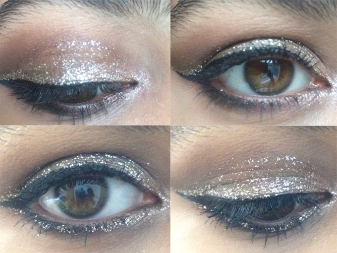 Urban Decay Heavy Metal Glitter Eyeliner Midnight Cowboy Review, Swatches Eye Makeup Look MBF Blog