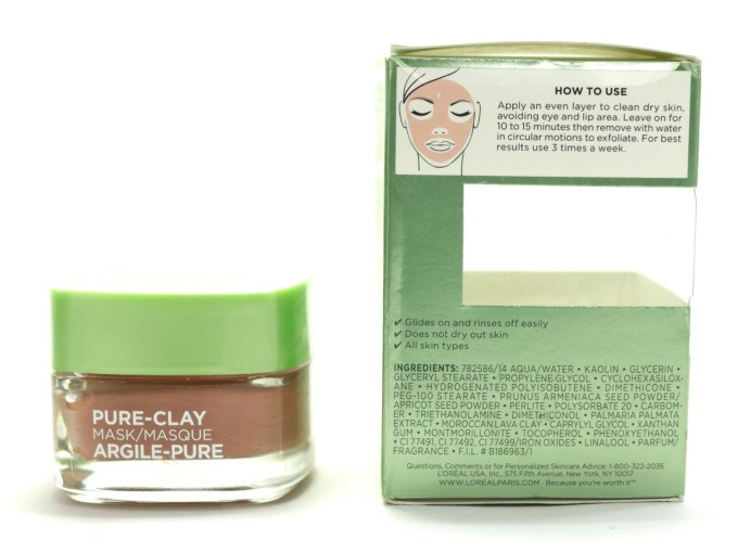 L'Oreal Exfoliate & Refine Pores Clay Mask Review, Swatches Ingredients