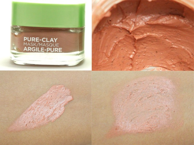 L'Oreal Exfoliate & Refine Pores Clay Mask Review, Swatches skin MBF blog