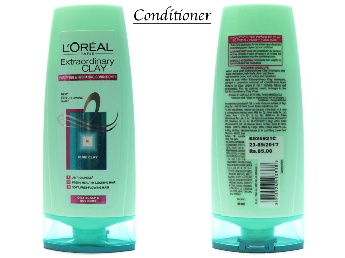 L'Oreal Extraordinary Clay Conditioner Review, Swatches