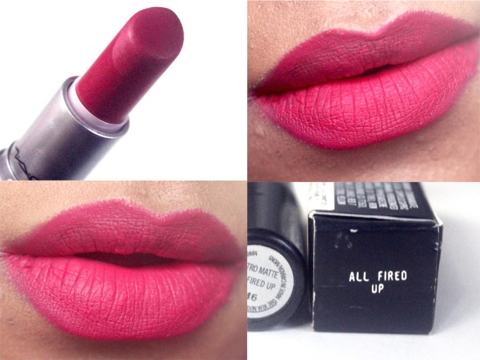 MAC All Fired Up Retro Matte Lipstick Review, Swatches MBF Blog