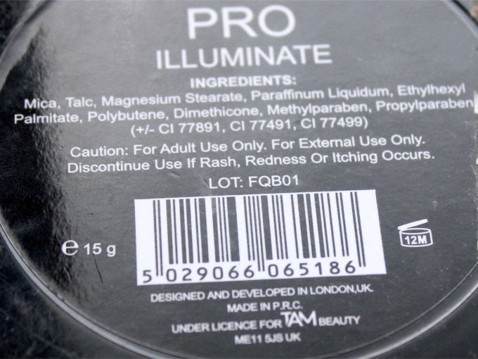 Makeup Revolution Pro Illuminate Highlighter Review, Swatches Ingredients