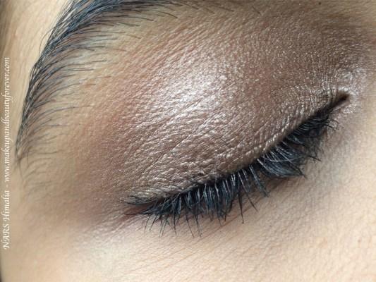 NARS Himalia Dual Intensity Eyeshadow Review, Swatches on Eye Makeup