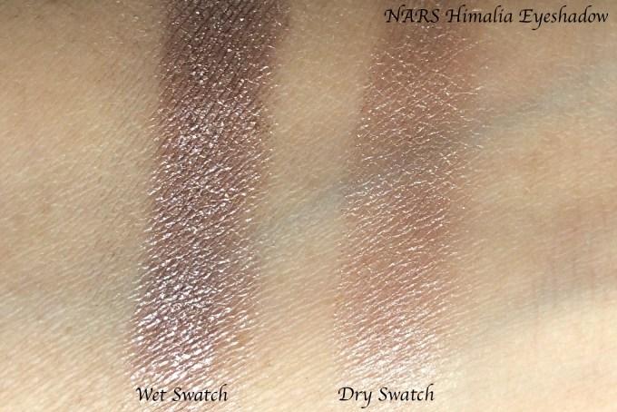 NARS Himalia Dual Intensity Eyeshadow Review, Swatches skin tone