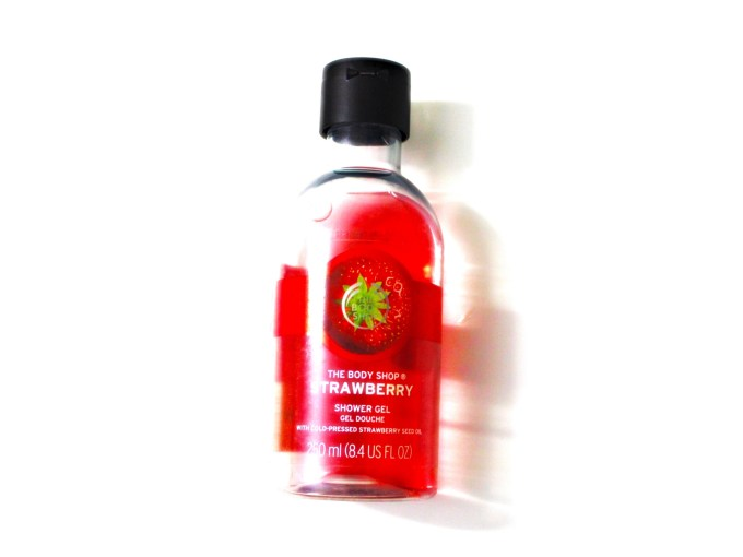 The Body Shop Strawberry Shower Gel Review blog MBF