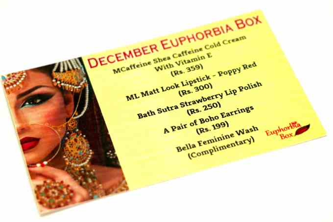 Euphorbia box - India's Most Affordable Beauty Box details