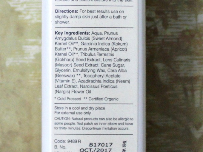 Forest Essentials Ultra Rich Body Lotion Nargis Review Ingredients